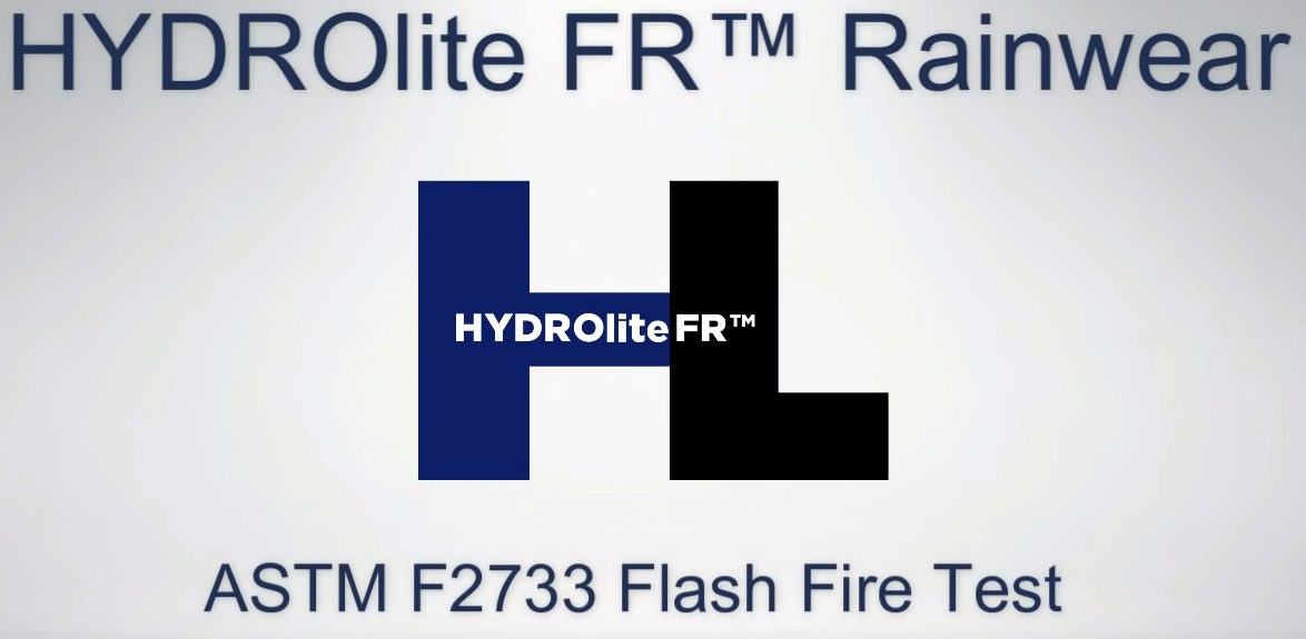 HYDROlite FR Flash Fire Test