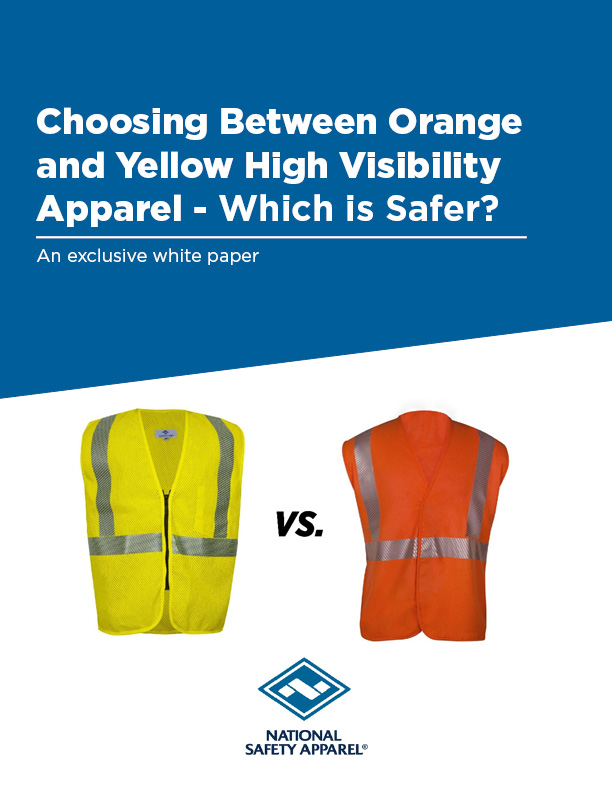 High Visibility Safety Apparel: Orange or White - Which is Safer?